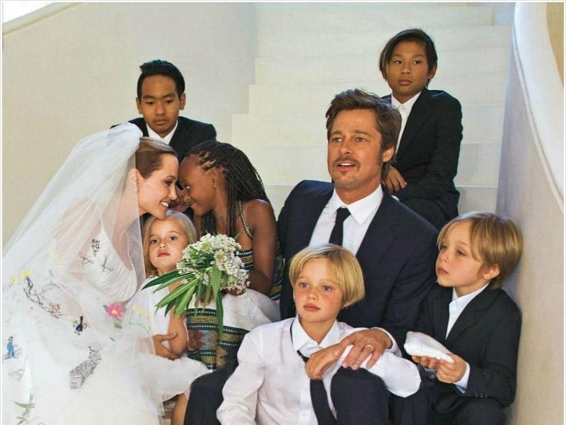 famosos que adotaram familia-jolie