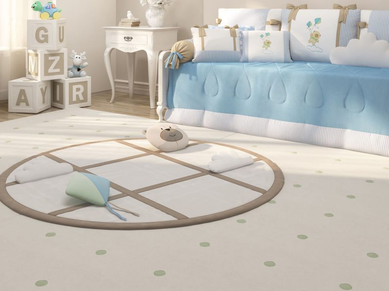 tapete para quarto de bebê